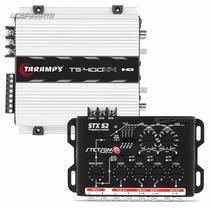 Modulo Taramps Ts 400 X4 400w Rms + Crossover Stetsom Stx52