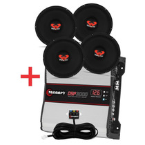Kit 4 Woofer Ultravox 12 550 Wrms + Modulo Taramps Dsp 3000w