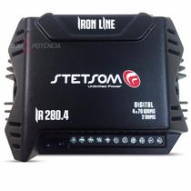 Modulo Amplificador Stetsom Ir280 4 Iron Line 280w 4 Canais