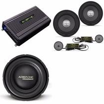 Set Audiophonic Com Hp4000 + Ks6.1 + S1-10s4