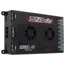 Modulo Soundigital Sd800.4d Sd800.4 Sd800 800w Rms 4 Canais
