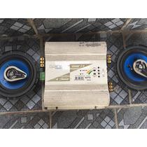 Amplificador Vozer 2.4 320 Watts + 2 Alto Falantes
