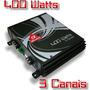 Amplificador Alfa Amps Three 400w Rms 3 Canal 2 Ohms - Fio