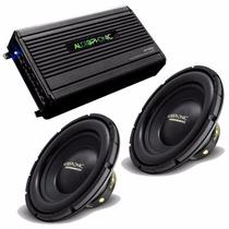 Kit Audiophonic C/ 1 Mód Hp1000 + 2 Subs 12 Pol 500w S1-12s4