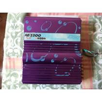 Módulo Amplificador Boog Ab2200 2 Canais De 90 Watts Rms.