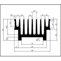 Dissipador De Aluminio Para Amplificadores 15cm