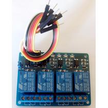 Módulo Relé 4 Canais 5v + Cabo Para Arduino