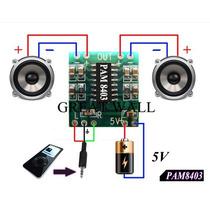 Pam8403 Módulo Amplificador Estéreo De Som 2 Canais 3 Watts