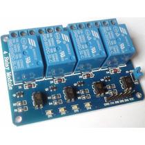 Modulo Relé 5v 4 Canais Com Optoacoplador Arduino Pcb Azul