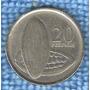 Moeda De Ghana ( África ) 20 Pesewas 2007 - Cacau
