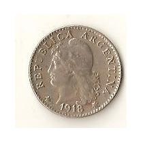 2027 - Argentina 5 Centavos 1918 - Niquel - Escassa