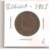 Ml-4569 Moeda Bolívia (bs10 Un Bolivar) 27mm 1951