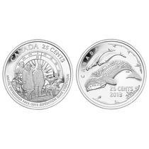 02 Moedas Canadá Expedição No Artico Quarter Dollar 2013 Fc