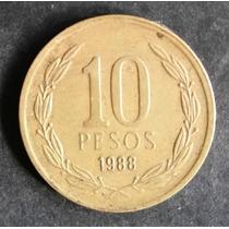 Moeda Chile - 10 Dez Pesos - Ano 1988