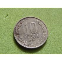 Moeda Do Chile De 10 Pesos De 1999 (ref 1699)