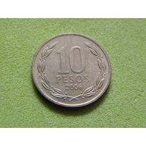 Moeda Do Chile De 10 Pesos De 2006 (ref 1695)