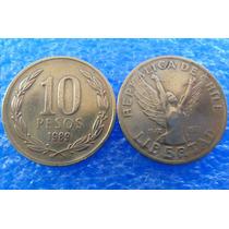 5 Moedas 10 Pesos Chile - Várias Datas