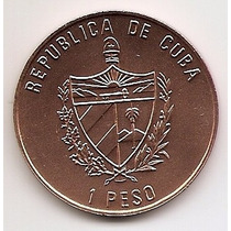 Cuba, Moeda De 1 Peso, 1993, Cobre, Fc - Abraham Lincoln -