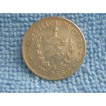 Moeda Cuba - 1 Peso 1987 - Bela - 24mm