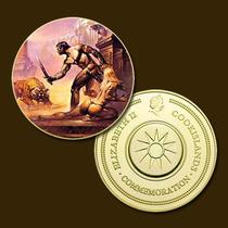 9893b - Mitologia Nórdica - Banhada A Ouro 24 K - 40 Mm