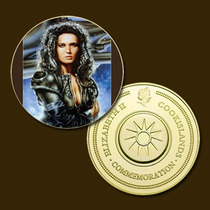 9818d - Mitologia Nórdica - Banhada A Ouro 24 K - 40 Mm