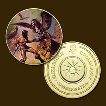 9894b - Mitologia Nórdica - Banhada A Ouro 24 K - 40 Mm