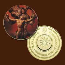 9443a - Mitologia Nórdica - Banhada A Ouro 24 K - 40 Mm
