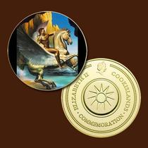 9409a - Mitologia Nórdica - Banhada A Ouro 24 K - 40 Mm