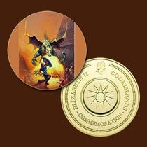 9940a - Mitologia Nórdica - Banhada A Ouro 24 K - 40 Mm