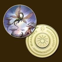 9881a - Mitologia Nórdica - Banhada A Ouro 24 K - 40 Mm