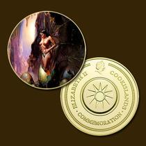 10071d - Mitologia Nórdica - Banhada A Ouro 24 K - 40 Mm