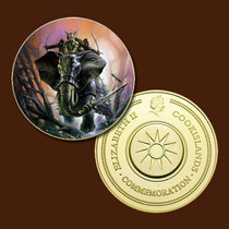 9945a - Mitologia Nórdica - Banhada A Ouro 24 K - 40 Mm