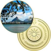 11065e - Lagoa Rodrigo De Freitas - B. Ouro 24 K - 40 Mm