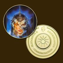 9900b - Mitologia Nórdica - Banhada A Ouro 24 K - 40 Mm