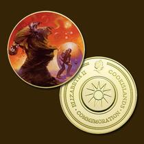 9882a - Mitologia Nórdica - Banhada A Ouro 24 K - 40 Mm