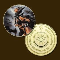9829a - Mitologia Nórdica - Banhada A Ouro 24 K - 40 Mm