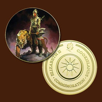 9947b - Mitologia Nórdica - Banhada A Ouro 24 K - 40 Mm