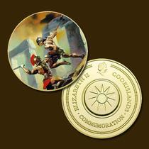 9883a - Mitologia Nórdica - Banhada A Ouro 24 K - 40 Mm