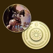 9897 - Mitologia Nórdica - Banhada A Ouro 24 K - 40 Mm