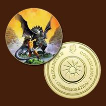 9918b - Mitologia Nórdica - Banhada A Ouro 24 K - 40 Mm
