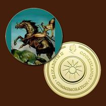 9930d - Mitologia Nórdica - Banhada A Ouro 24 K - 40 Mm