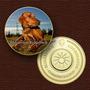 10777 - Cão Da Raça (rhodesian Ridgeback) - B. Ouro 24 K - 4