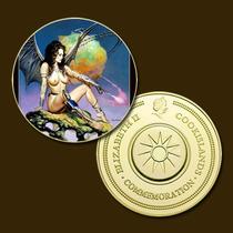 9817b - Mitologia Nórdica - Banhada A Ouro 24 K - 40 Mm
