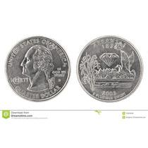 Moedas Comemorativa Usa Um Quarto De Dolar Arkansas 2003
