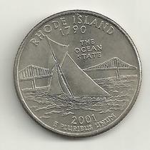 25 Cents/quarter Dolar - Eua - Rhode Island - Letra P