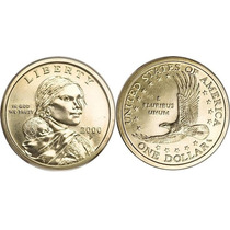Moeda Estados Unidos 2000 1 Dolar American Sacagawea