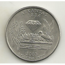 25 Cents/quarter Dolar - Eua - Arkansas - Letra P
