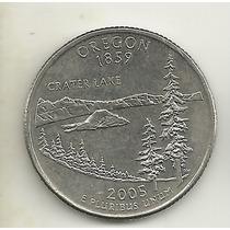 25 Cents/quarter Dolar - Eua - Oregon - Letra P