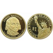 Moeda Estados Unidos 2007 1 Dolar James Madison