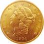 Moeda De Ouro Maciço 20 Dolares Americano 1904 900 K 33.4 Gr